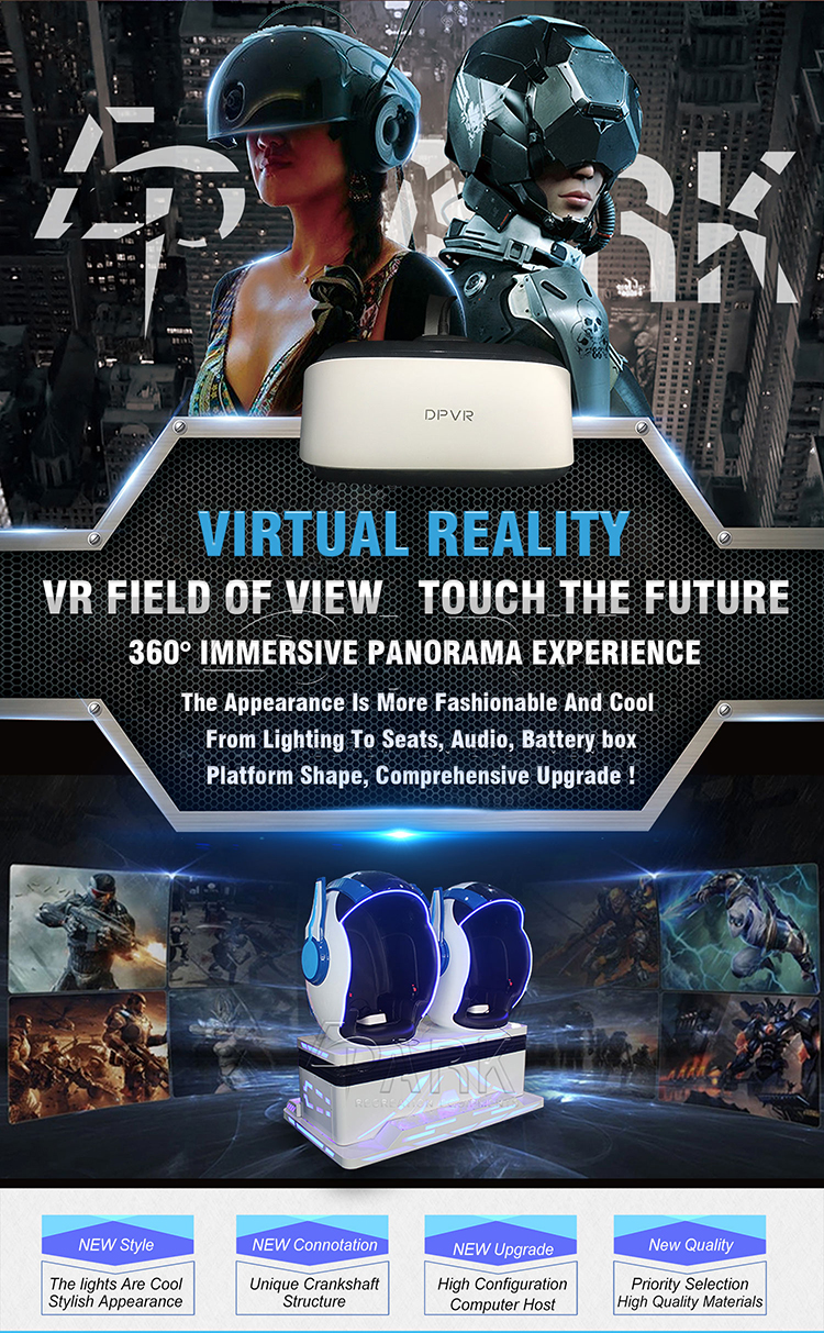 Newest VR 9D Cinema Simulator 3D Glasses Virtual Reality 2 Seats Space Phantom 9D VR