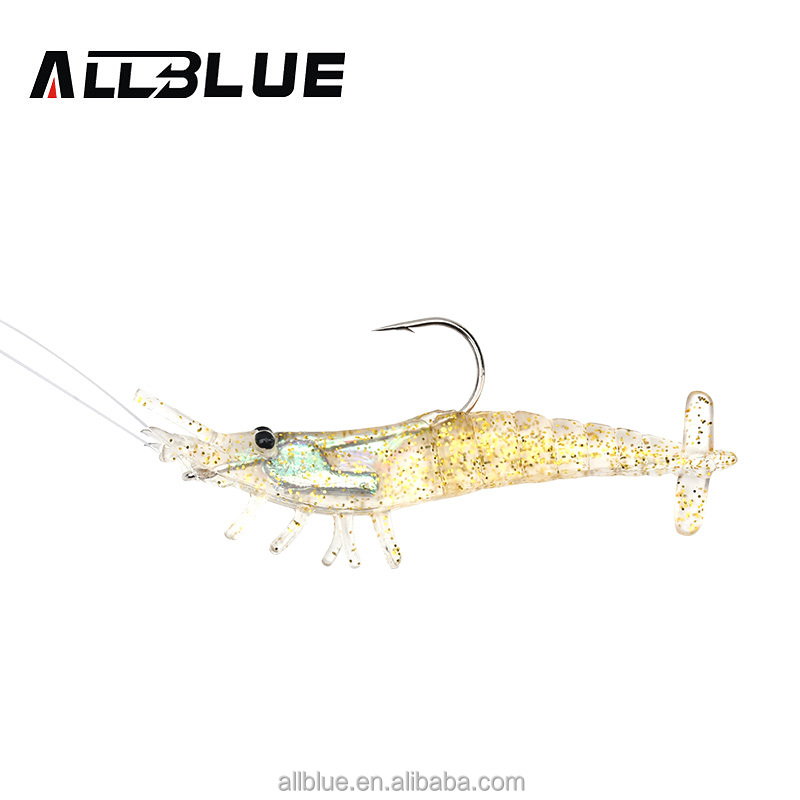China Fishing Shop Supply Low Price 9cm 9.8g Soft Fishing Bait Shrimp Free Fishing Tackle Samples