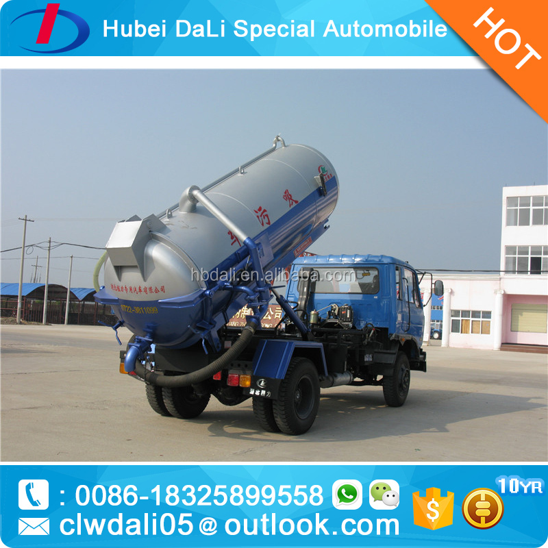 Dongfeng 4*2 Sewage suction tanker truck japanese sewage truck for sale