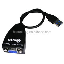 USB 3.0 to VGA Video Graphic Card Multi-Display External Cable Adapter Win 7 8 FL2000 CHIPEST