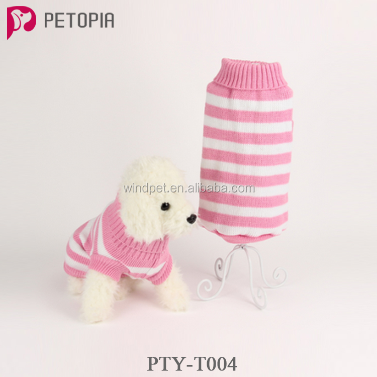 Pet Clothing Cotton Hand Knit Dog Sweater