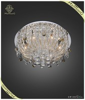 contemporary home decor crystal lighting modern E14 led glass ceiling lamp