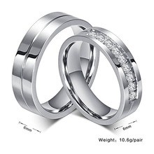Fashionable Design Plating gold/silver/black cheap signet stainless steel wedding ring for women