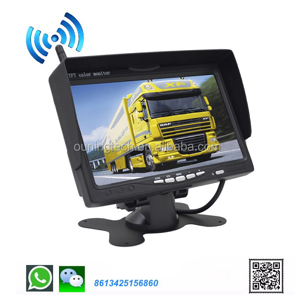 WIFI 7 inches tft lcd color monitor wiring reverse image camera