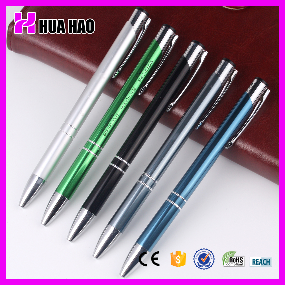 Metal red roller ball point pen promotional gift pen wholesale different colors metal ball pen