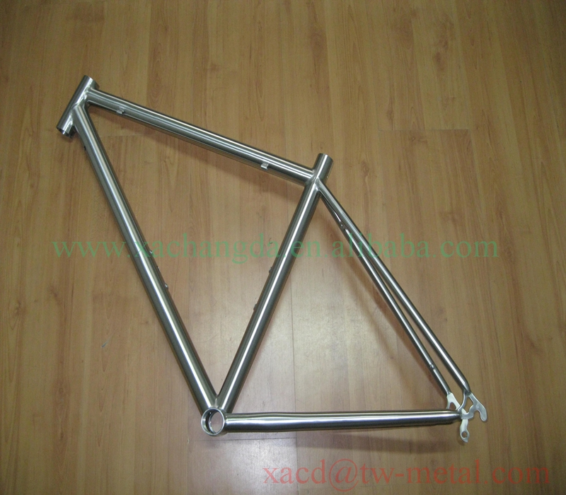 OEM ti road bikes titanium road bicycle frame with handing brush finished xacd made titanium bicycle frame