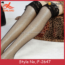 F-2647 wholesale lace antiskid women high heels stockings movies thin fishnet socks