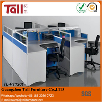 2016 hot selling office furniture workstation cubicles with glass triangle office table