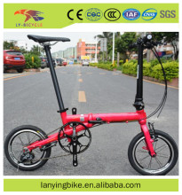 High quality folding bike bicycle /mini 14 inch Aluminum foldable bike/folding bike manufacturer wholesale