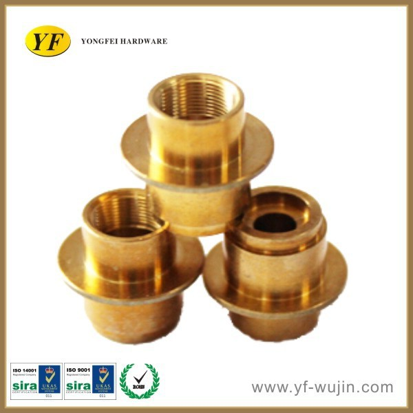 Customized Drawing High Precision Brass Machined Pipe Fitting used in Vehicle, Electronic components, Household, Hardware,etc