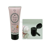 30mm 60ml soft cosmetic tube with flip top cap and round plastic package