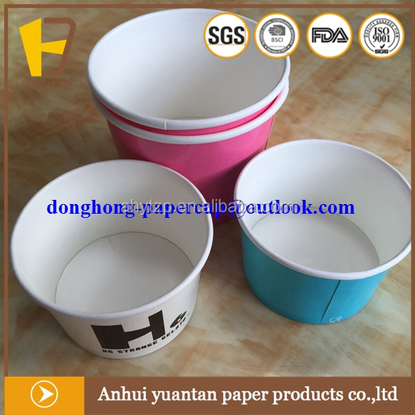 China manufacturer icecream paper cups biodegradable for sale