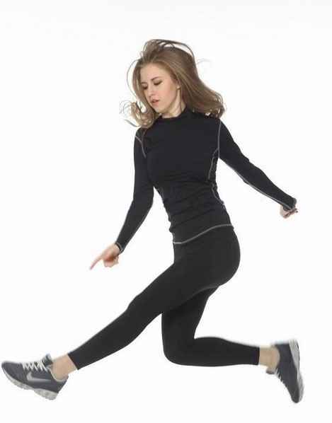 compression track suit, women track suit,wholesale gym t-shirts women