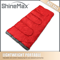 red hollow fiber army envelope sleeping bag for soldiers