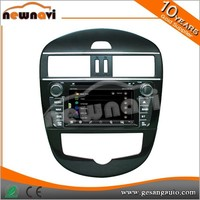 Capacitive Touch Motorized Screen 7 inch wince system Car dvd player car multimedia navigation for Tiida