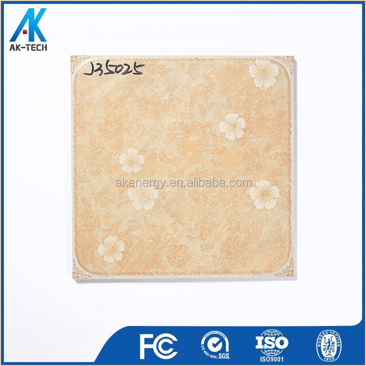 ceramic pale yellow tile with flower , floor tile pattern design