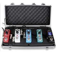Mini Guitar Effect Pedal Board Aluminum Locking Lightweight Case for 5 Pedals