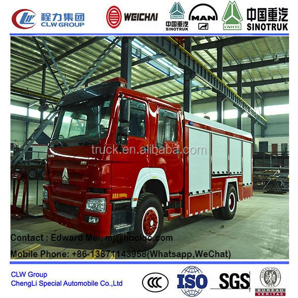 hot sale water/foam howo fire truck/ 10000 liter fire water tanker