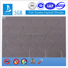 Fish-Scale style modern roof design Eco-friendly building materials fiberglass base asphalt round shingle