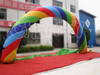 Rainbow design outdoor inflatable event entrance arch