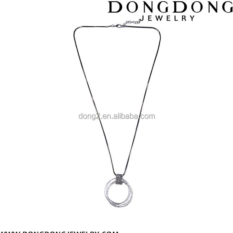 Top fashion special design hollow round pendant women's gift party necklace jewelry