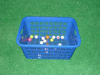 Durable plastic golf ball basket