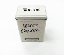 min metal tin recipe card box with white color & rectangular shape