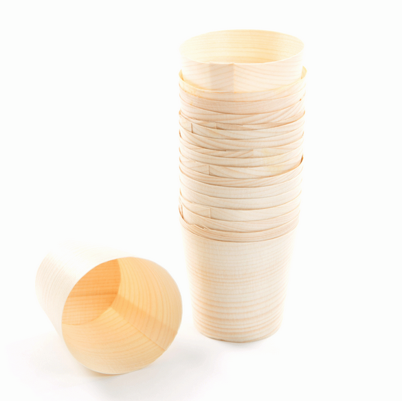 Small Tea/Coffee Cups Wooden Cups Disposable