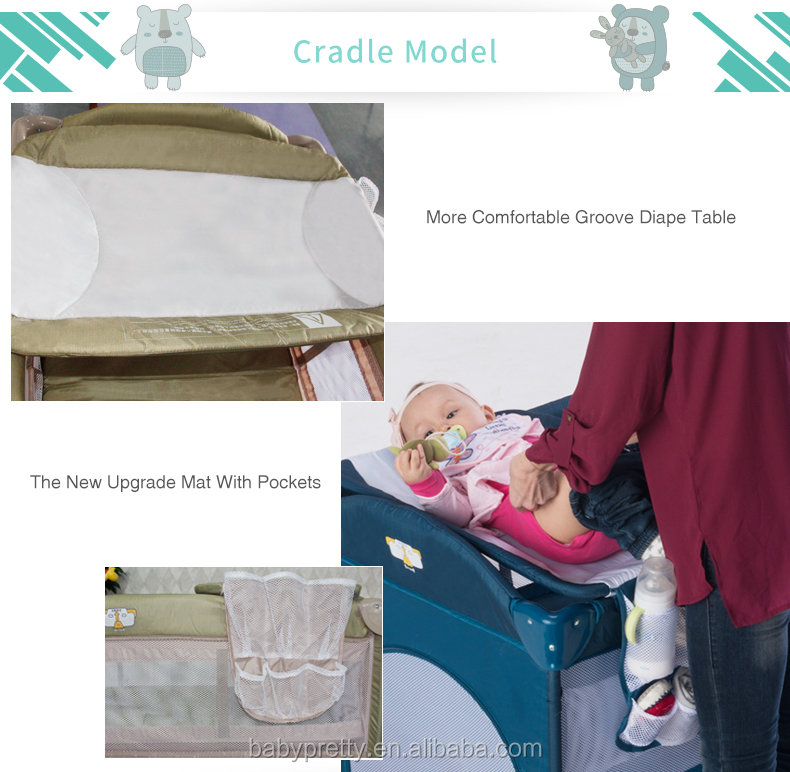 Multi function baby playpen high quality portable fashion baby crib