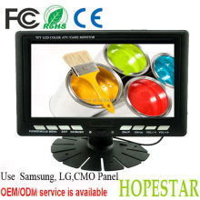 "7 inch car mini lcd monitor 7"" portable monitor with input"