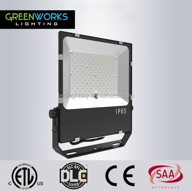 ETL DLC approval IP65 outdoor 300 watt high lumen led flood light with MeanWell driver