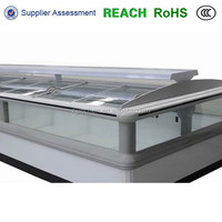 High Quality Island Freezer Glass Door