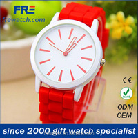just for ladies branded promotion vogue silicone band women watch printing brand sr626sw silicone watch