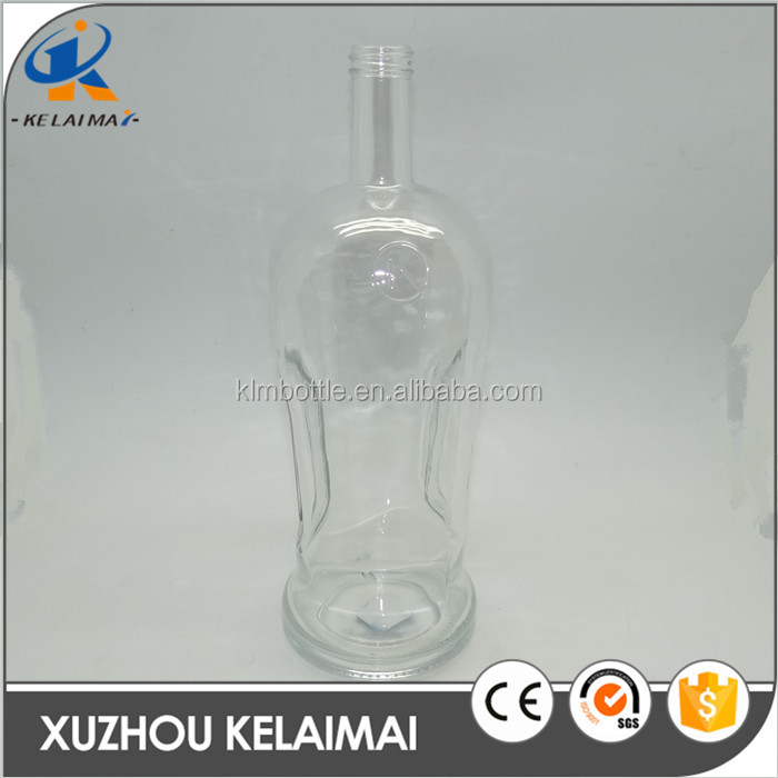 1.76L xuzhou china manufacture clear empty wine bottle glass