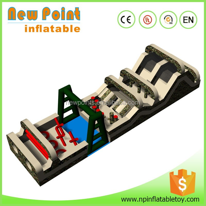 China high quanity giant cheap boot camp inflatable obstacle course