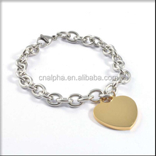 fashion bracelet imitation jewellery one gram gold jewelry wholesale chain heart bracelet RB38