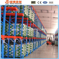 Push back pallet rack warehouse racking system
