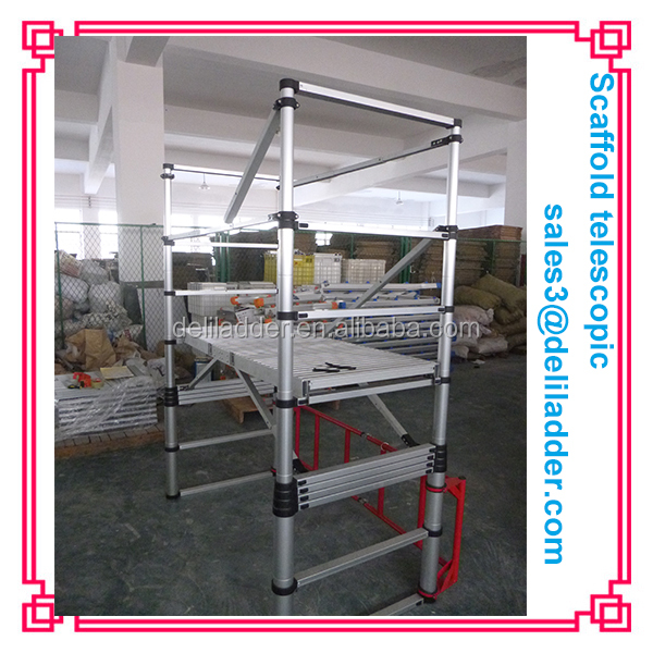 telescopic ladder/scaffolding telescopic ladder/aluminum scaffold tower telescopic adjustable platform SCAFFOLDING for sales
