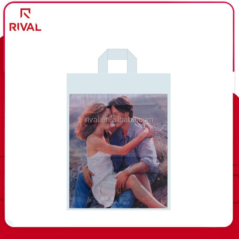 custom made sexy and fashionable plastic gift colour shopping bags for hot sale