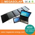 40W solar laptop charger with 3A 12v 16v 19v output
