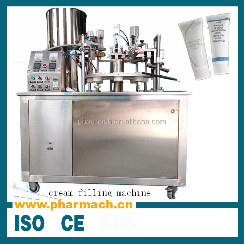 Plastic tube filling machine, plastic tube sealing machine for cosmetic, pharmaceutical, chemical product