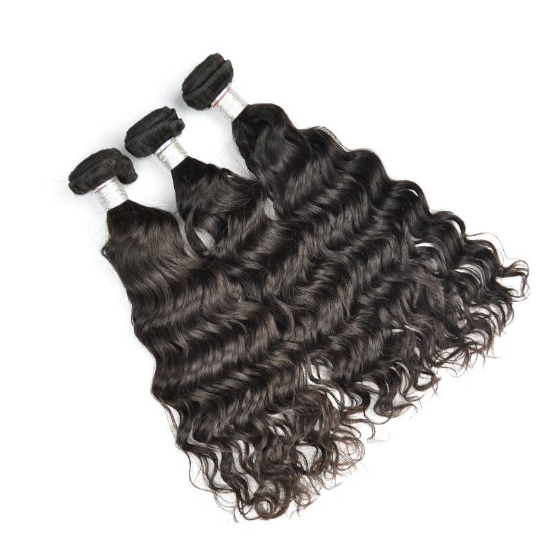 Top Quality Girl Hair Extensions Natural Water Wave 8 to 28 Inch Virgin Remy Human Brazilian Hair Weft