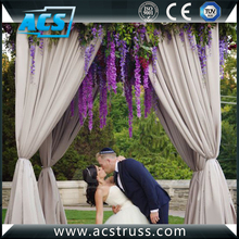 Wedding backdrop system pipe and drape uprights cover