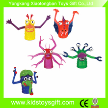 soft monster puppet/small plastic finger toy