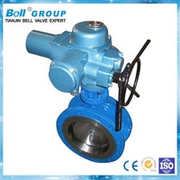 DN150 Electric disc type Flanged Butterfly Valve for steel mills
