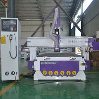 Automatic tool changer cnc router 1325 3d cnc wood carving machine with vacuum table