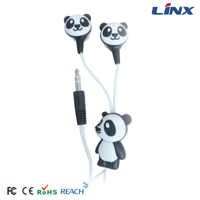 Customized Marker Silicone PVC Animal Shaped Earphones for Mp3 Players