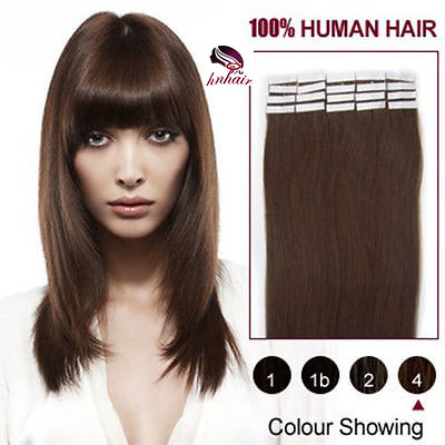 2016 Hair different color human hair extension virgin remy brazilian tape hair