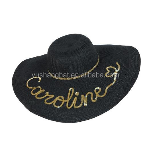 Professional factory custom you own design gold sequin hats with best price