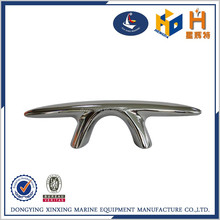 mirrored polished marine fittings mooring cleat for ship